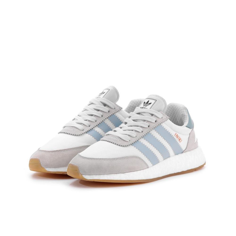 adidas Iniki Women's Off-White Sneakers B075VC6BQ5 8 B(M) US White / Trace Green