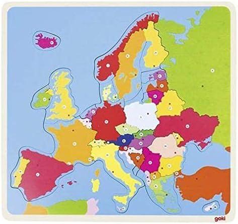 Goki-57509 Puzzles de maderaPuzzles de maderaGOKIPuzzle Europa, Multicolor (57509): Amazon.es: Juguetes y juegos