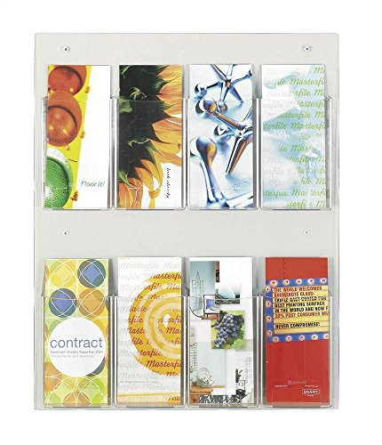 Safco Products 5673CL Clear2c Literature Display, 8 Pamphlet, Clear (Rack Pocket Pamphlet 8 Safco)