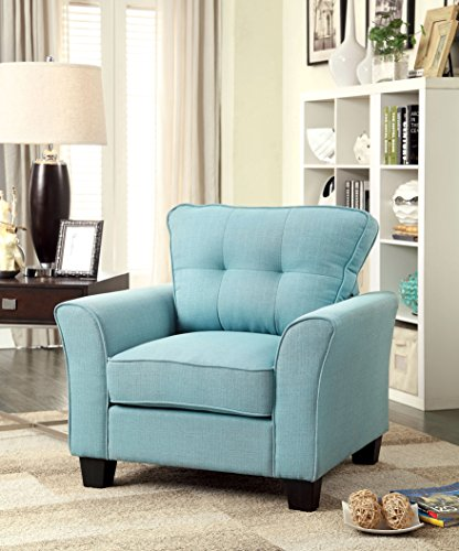 Furniture of America Preston Transitional Arm Chair, Blue
