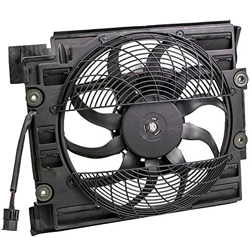 (Loovey For BMW 528i E39 97-98 Auxiliary Electric Cooling Fan A/C Condenser Radiator for E39 M5 611220 540i 97 98 64548380780 BASE SEDAN)