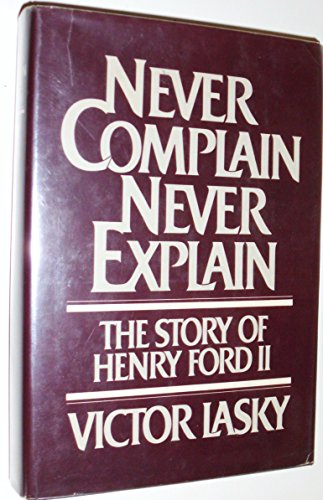 Never complain, never explain: The story of Henry Ford - New Haven Shopping Mall