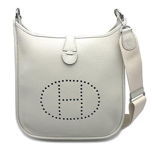 - LUX TOGO CASUAL BAG/IVORY Genuine Leather Premium Togo Calfskin Womens Korean Handbag