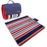 """Yodo XXX-Large Outdoor Waterproof Picnic Blanket Tote 79"""" x 79"""" / 59"""" Light Weight with Soft Fleece and Padding"""