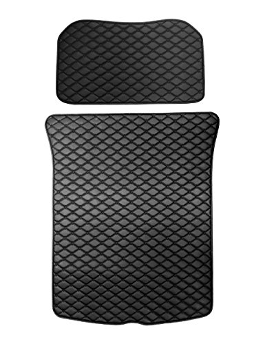 topfit Frunk and Trunk Protective Pads for Model 3 Include Front and Rear Trunk Mat (Black, 2 Pieces of A Set)
