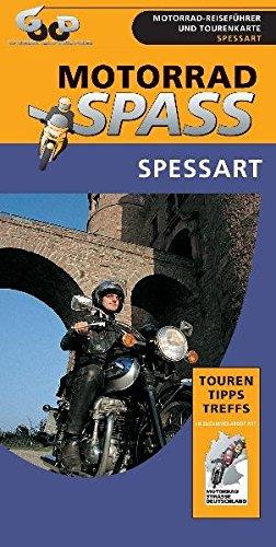 Spessart  1 275.000  Motorradspass   Laminierte Landkarte Mit Reiseführer Der Region. Eingezeichnete Touren Tipps Treffs Und Übernachtungsmöglichkeiten