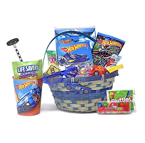 Hot Wheels Car Themed Easter Basket Candy and Toy -
