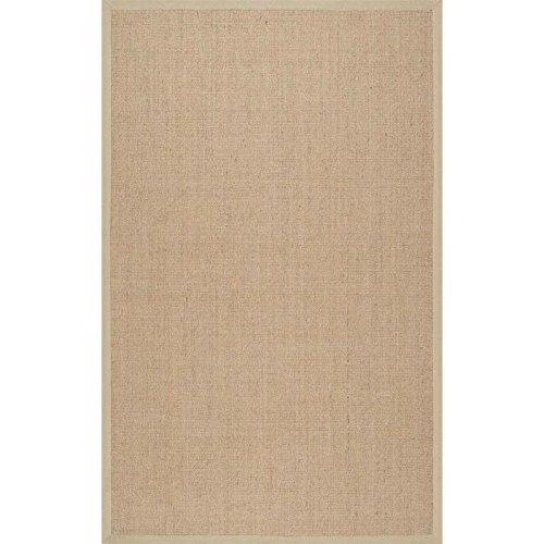 Herringbone Sisal Rug (nuLOOM 100-Percent Sisal Machine Woven Julie Sisal Area Rug, 5-Feet by 8-Feet,)