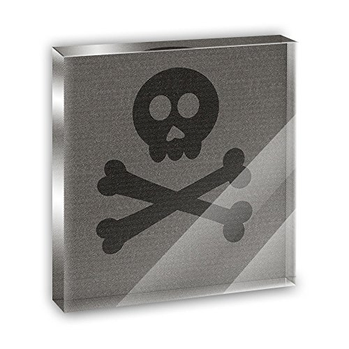 Til Skull and Crossbones Do Us Part Acrylic Office Mini Desk Plaque Ornament Paperweight