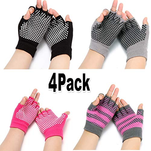 HaveDream Non Slip Yoga gloves for Women, Toeless Anti-skid Pilates, Barre, Ballet, Bikram Workout gloves