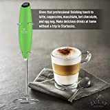 Zulay Milk Frother Handheld Foam Maker for Lattes - Great Electric Whisk Drink Mixer for Bulletproof® Coffee, Mini Blender and Foamer Perfect for Cappuccino, Frappe, Matcha, Hot Chocolate, Classic Milk Boss