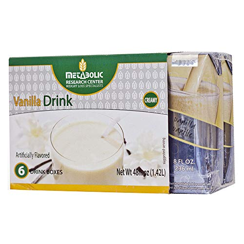 Ready-to-Drink Vanilla Protein Drink by Metabolic Research Center, 6 Boxes