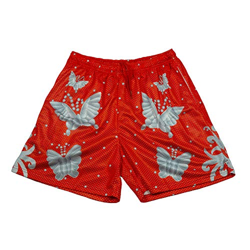 - WWE Authentic Wear RIC Flair Red Chalk Line Shorts Blue 2XL