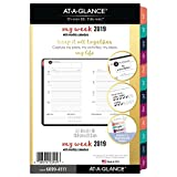 at-A-Glance Weekly/Monthly Planner Refill, January 2019 - December 2019, Small Planner, Loose-Leaf, Harmony (6099-4111)