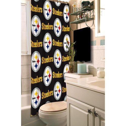 Northwest NFL Pittsburgh Steelers Fabric Shower Curtain by Northwest