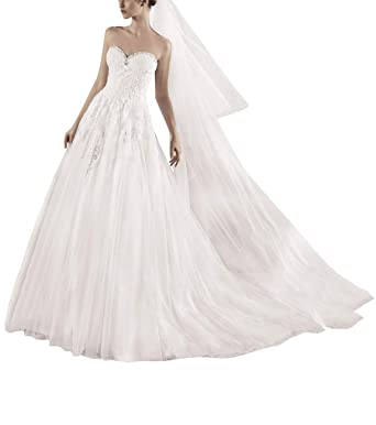 VKStar® Robe Bustier de Mariage Soirée Femme sans Manche