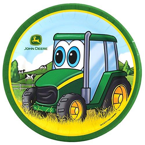 BirthdayExpress John Deere Johnny Tractor  Dessert Plate 24