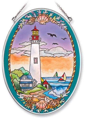 (Stained Glass Suncatcher Cape May Lighthouse 5.5