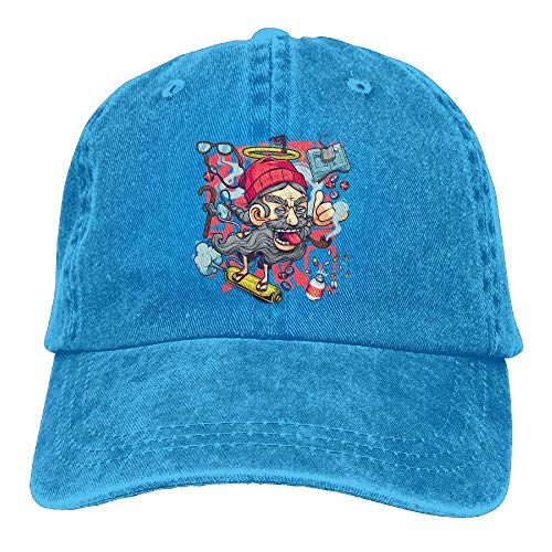 Cowboy for Women Cap Sport Art Denim Hats Skate Men Hat Skull Cowgirl Men WFYqvZnXR