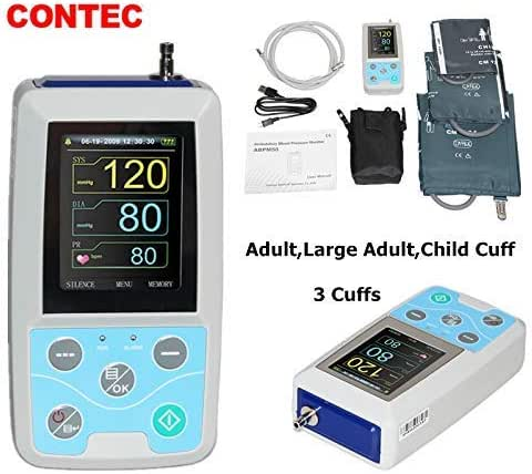 CONTEC Ambulatory Blood Pressure Monitor+Software 24h NIBP Holter 3 Cuffs(Child,Adult,Adult Large) Newest
