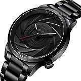 Watch Men's Watch Stainless Steel Black Fashion...