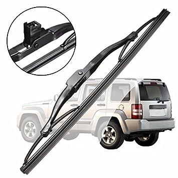 GOZAR 11 Pulgadas De Vidrio Trasero Escudo Parabrisas Limpiaparabrisas Reemplazo De La Cuchilla para Jeep Liberty Dodge Caliber: Amazon.es: Hogar