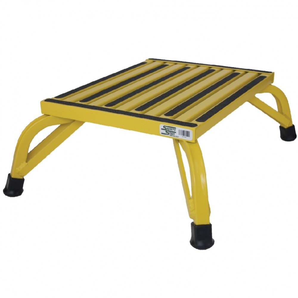 Safety Step Aluminum Industrial Step Non-Slip 15''x19'' Platform 1000lb Capacity - Safety YELLOW - Self-leveling Anti-Tip Design, Will not Corrode (8'' High) by Safety Step