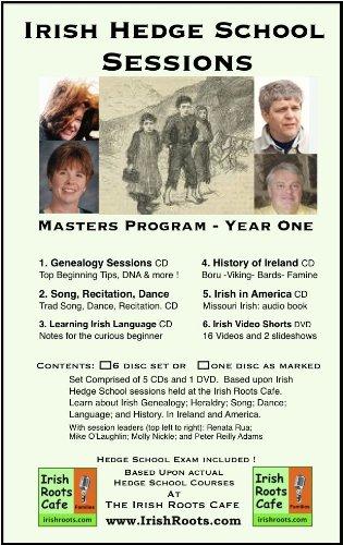 Irish Hedge School Sessions, Genealogy; History; Song; Language; Ireland & America, 6 disc set by Irish Genealogical Foundation / Irish Roots Cafe