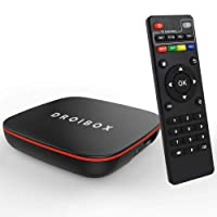 JUSTOP Q Mini Android TV Box 2GB Ram 16GB Rom Qual Core Built-in 802.11N WI-FI Bluetooth 4.0 Supports 4K 10-bit 60fps H.265 LAN Miracast Video Ultra HD Media Streamer
