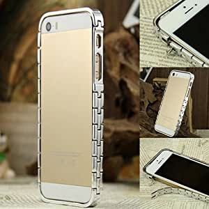 Luxury Metal Watch Chain Aluminium Bumper Cover Frame Case for iPhone 5s 5g 5 (Slivery)