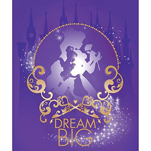 Disney Dream Big Panel in White Belle Cinderella Ariel 100% Premium Quality Cotton Fabric by The Panel -