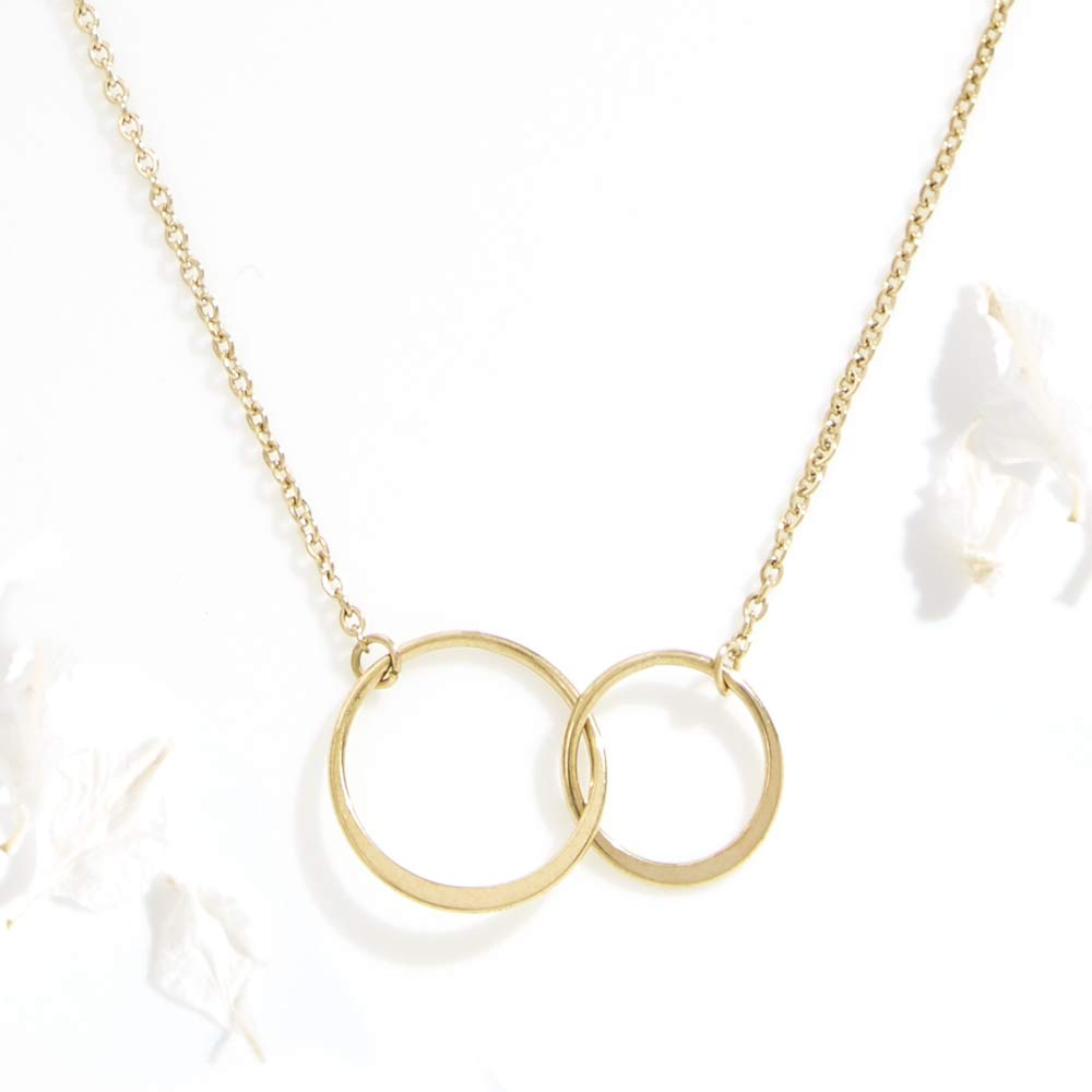 Necklace Xmas Jewelry 2 Asymmetrical Circles Dear Ava for Wife: Present for Wife