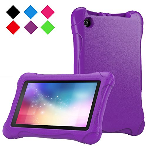Kids Case for Fire 7 Tablet (7th Generation, 2017 Release), LTROP EVA Super Protective Fire 7 Case for Kids, Anti-Slip Light Weight Shock-Proof 2017 New Fire 7 Tablet Case – Purple Photo #3
