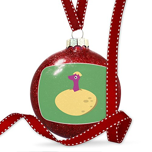 Christmas Decoration Cute Animals for Kids Dinosaur in Egg Ornament by NEONBLOND