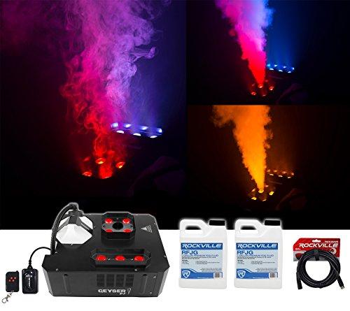 Chauvet DJ GEYSER P7 Fog Machine Fogger w/Effects+Remote+2) Gal. Fluid+DMX Cable by Chauvet
