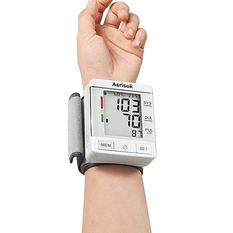 Asrisuk Monitor de Presión Sanguínea Aprobado por la FDA Lecturas Precisas Capacidad de Memoria Modos de