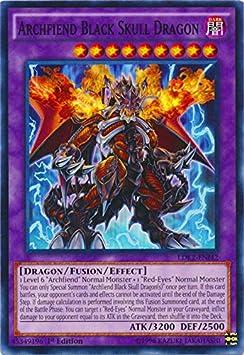Archfiend Black Skull Dragon LDK2-ENJ42 Common NM Yugioh Card x3