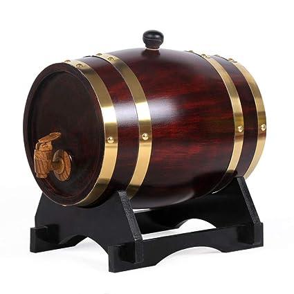Woode 10 litros Barril de Vino Madera Dispensador de Roble Forro de Papel de Aluminio Incorporado