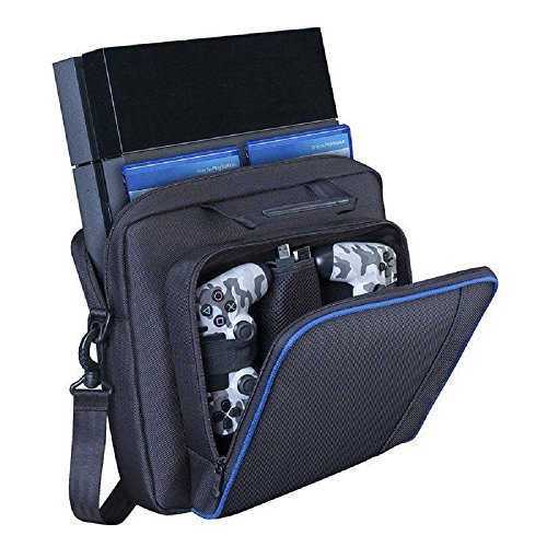 Price comparison product image PS4 Case, Yudeg Travel Case PlayStation 4 Carrying Case Protective Shoulder Bag Handbag for PlayStation PS4 PS4 Pro PS4 Slim