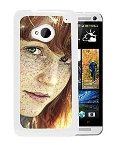 New Custom Designed Cover Case For HTC ONE M7 With Freckled Girl Girl Mobile Wallpaper(3).jpg