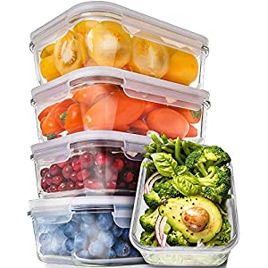 Prep Naturals Glass Meal Prep Containers – Food Prep Containers with Lids Meal Prep – Food Storage Containers Airtight – Lunch Containers Portion Control Containers Bpa-Free (5 Pack,30 Ounce) 51kn6a0Z LL