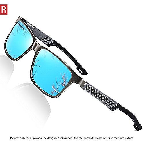 8c89b94cd11 ROCKNIGHT Polarized UV Protection Driving Sunglasses for Men Wayfarer Metal  Frame Al-Mg Lightweight Outdoors