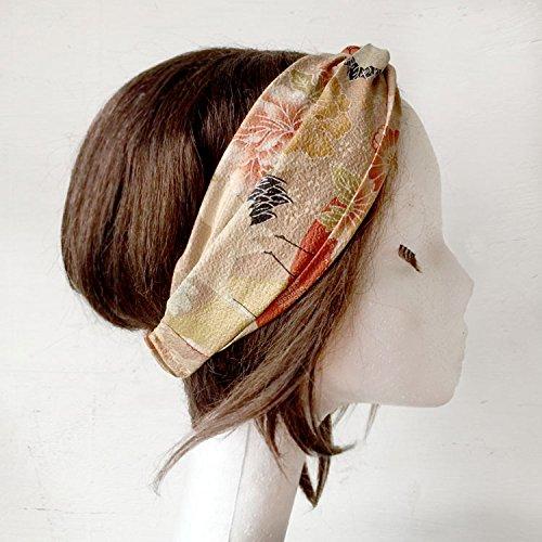 Japanese fabric Cotton Headband Boho headband Sand Resort Summer Headband Fashion head wrap Turban Crane Floral Head wrap