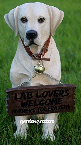 YELLOW LABRADOR RETRIEVER STATUE FIGURINE DOG STATUE