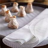 Astra Gourmet 4-Piece Silicone Steamer Mesh/Non-Stick Round Dumplings Mat/Silicone Steamer Mesh/Pad(8.6''/9.5''/10.2''&11'')