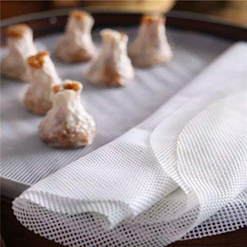 Astra Gourmet 4-Piece Silicone Steamer Mesh/Non-Stick Round Dumplings Mat/Silicone Steamer Mesh/Pad(8.6