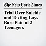 Trial Over Suicide and Texting Lays Bare Pain of 2 Teenagers | Katharine Q. Seelye,Jess Bidgood