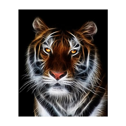 - Vmnbstitch 5D DIY Diamond Painting Tiger Full Round Drill Diamonds Embroidery Cross Stitch Home Decor Pictures (Tiger Pattern)