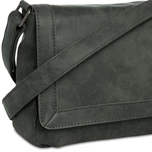 Caspar ts1011Mujeres Messenger Bag negro