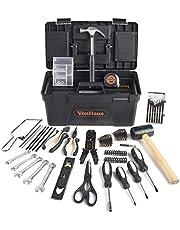 VonHaus Household Tool Set 170pc Rose Gold - Everyday DIY & Odd Jobs – Includes Small Handsaw, Hammer, Scissors, Spirit Level & More